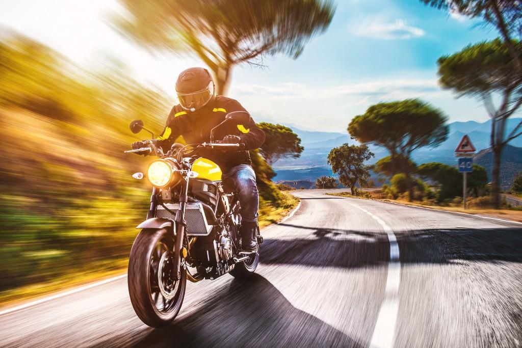 riding a motor bike